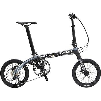 SAVANE(サヴァーン) Carbon8 FDB169 東レT700カーボンフレーム 16インチ 折りたたみ自転車 ブラック/グレー シマノSORA9段変速 前後油圧ディスクブレーキ 89213-0199
