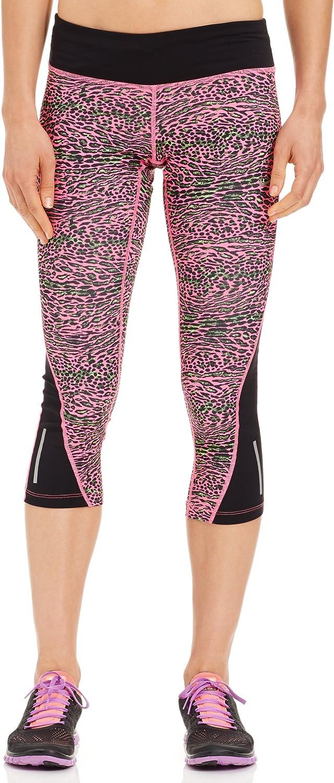 Nike Women's Racer Leopard Print Running Crops, Pink Pow Bk