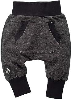Pinokio Happy Day - Baby Hose 100% Baumwolle-schwarz - Jogginghose, Haremshose Pumphose Schlupfhose- elastischer Bund, unisex