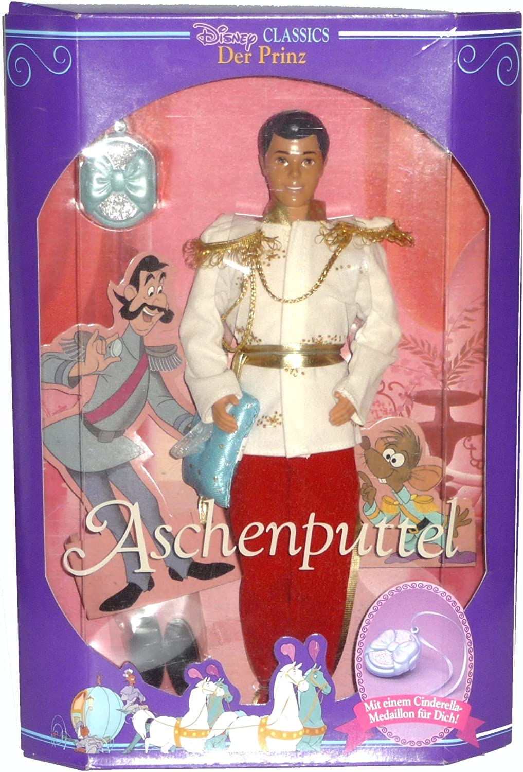 Cinderella Prince Charming Disney Classic with shoes and Locket (1991)