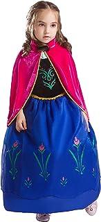 Elsa & Anna Princesa Disfraz Traje Parte las Niñas Vestido (Girls Princess Fancy Dress) Es-Dress208-Sep (3-4 Años, Es-208)