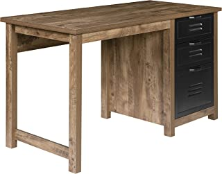 OneSpace Norwood Range 3-Drawer Locker Writing Desk, Oak
