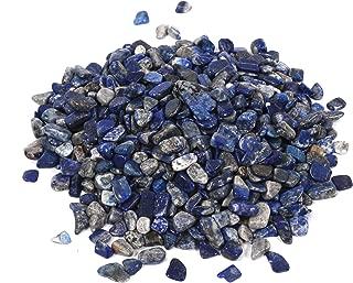 Shiny Stone Lapis Lazuli Tumbled Chips,Decorative Stones Crystal,Aquarium Gravel Rocks Stones for DIY Home Garden Succulent Gifts Decoration 7-9mm 400g/0.88lb