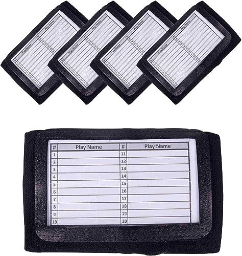 wholesale GSM sale Brands Quarterback (QB) Play Wristband - Adult online Size - Pro Football Armband Playbook - 5 Pack (Black) online
