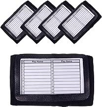 GSM Brands Quarterback (QB) Play Wristband - Adult Size - Pro Football Armband Playbook - 5 Pack (Black)