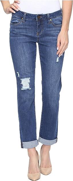 Peyton Boyfriend Jeans in Montauk Mid Blue