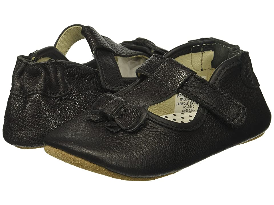 Robeez Tori T-Strap First Kicks (Infant/Toddler) (Black) Girl