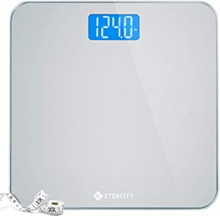 Sponsored Ad - Etekcity Digital Body Weight Bathroom Scale with Body Tape Measure and Round Corner Design, Large Blue LCD ...