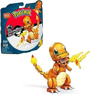 Mega Construx Pokemon Salamèche à construire, jeu de briques de construction, 180 pièces, pour enfant dès 7 ans, GKY96