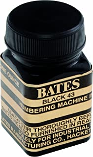 Bates Numbering Machine Refill Ink, 1 Ounce Bottle with Cap Brush, Black (9800659)