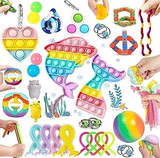 30 Pcs Sensory Relief Toy Set Cheap, Fidget Toys Sets For Kids Stress And Anxiety Relief Fidget Toys, Cheap Fidget Toys Ki...