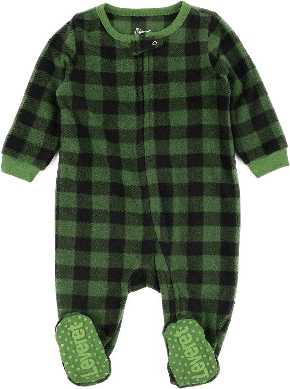 Leveret Fleece Award Baby Boys Girls Footed Sleeper Kids Pajamas Quality inspection Tod