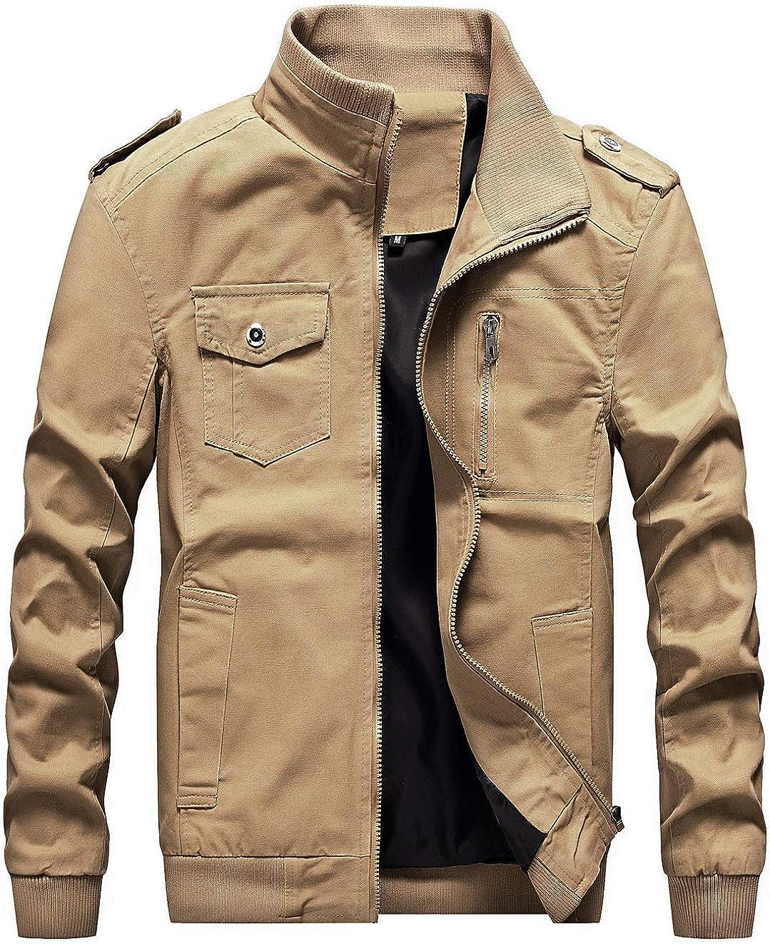 chouyatou 新作販売 Men's Casual Stand Collar Zip-Up Bomber 世界の人気ブランド Ja Lightweight