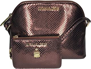 MICHAEL Michael Kors Adele MD Dome Crossbody bundled with Michael Kors Adele Small TZ Coinpouch with ID Wallet