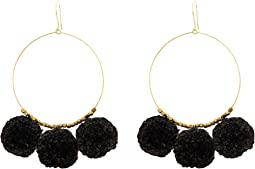 Chan Luu - Pom Pom Earrings On Gold Hoop