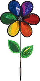In the Breeze Rainbow Sparkle Flower Spinner with Leaves, 12