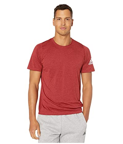 adidas Freelift Heather Tee (Active Maroon/White) Men