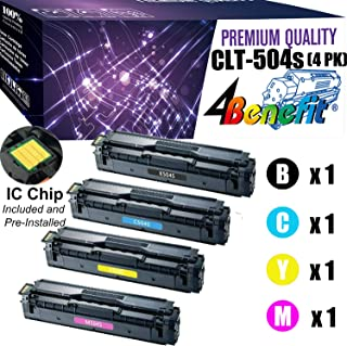 SHOP AT 247 247T-SA-504S-00-CLT504SSet-80 Compatible Toner Cartridge Replacement for Samsung CLT-K504S,CLT-C504S,CLT-Y504S,CLT-M504S for Xpress SL-C1810W,C1860FW,CLX-4195FN,4195FW,CLP-415NW, Black, Cyan, Yellow, Magenta