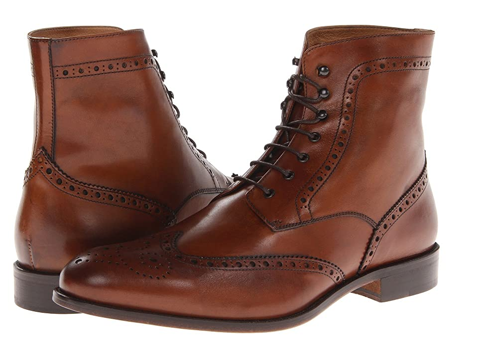 Massimo Matteo 7-Eye Wing Boot (Brandy) Men