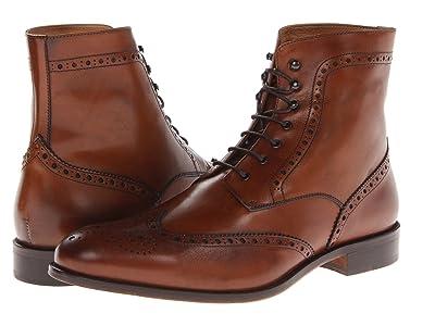 Massimo Matteo 7-Eye Wing Boot (Brandy) Men