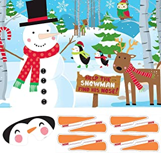 Pin-The-Nose On The Snowman Game   Christmas Activity
