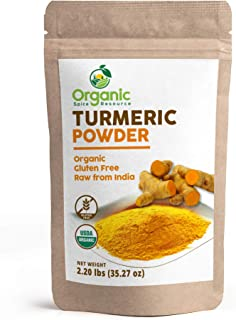 Organic Turmeric Root Powder | 2.2 lbs (35.27 Ounce) | Lab Tested for Heavy Metal and Purity, Resealable Kraft Bag, Non-GM...