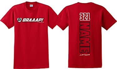 Just Ride Braaap! Motocross Number Plate Shirt MX Moto Personalized