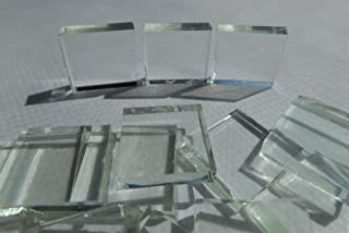 FortySevenGems 100 Pieces Stained Glass Mosaic Tiles 1/2-Inch Clear Glass