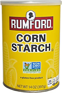Rumford Non-GMO Corn Starch - Gluten Free, Vegan, Vegetarian, Thickener for sauce, soup, gravy in a Resealable Can - 14 oz (1)