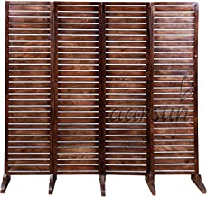 Aarsun Woods Wooden 4 Panel Partition Screen / Room Divider