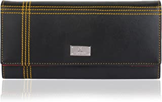 K London Women's Wallet (Black,Red) (1501_BlackRed)