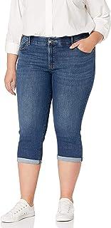 LEE Women`s Plus Size Flex Motion Regular Fit 5 Pocket Capri Jean