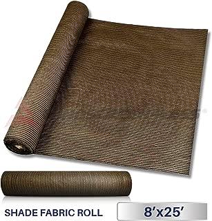 Windscreen4less Brown Sunblock Shade Cloth,95% UV Block Shade Fabric Roll 8ft x 25ft