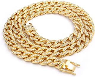 14k Gold Plated Iced Out Cuban Chain & Bracelet