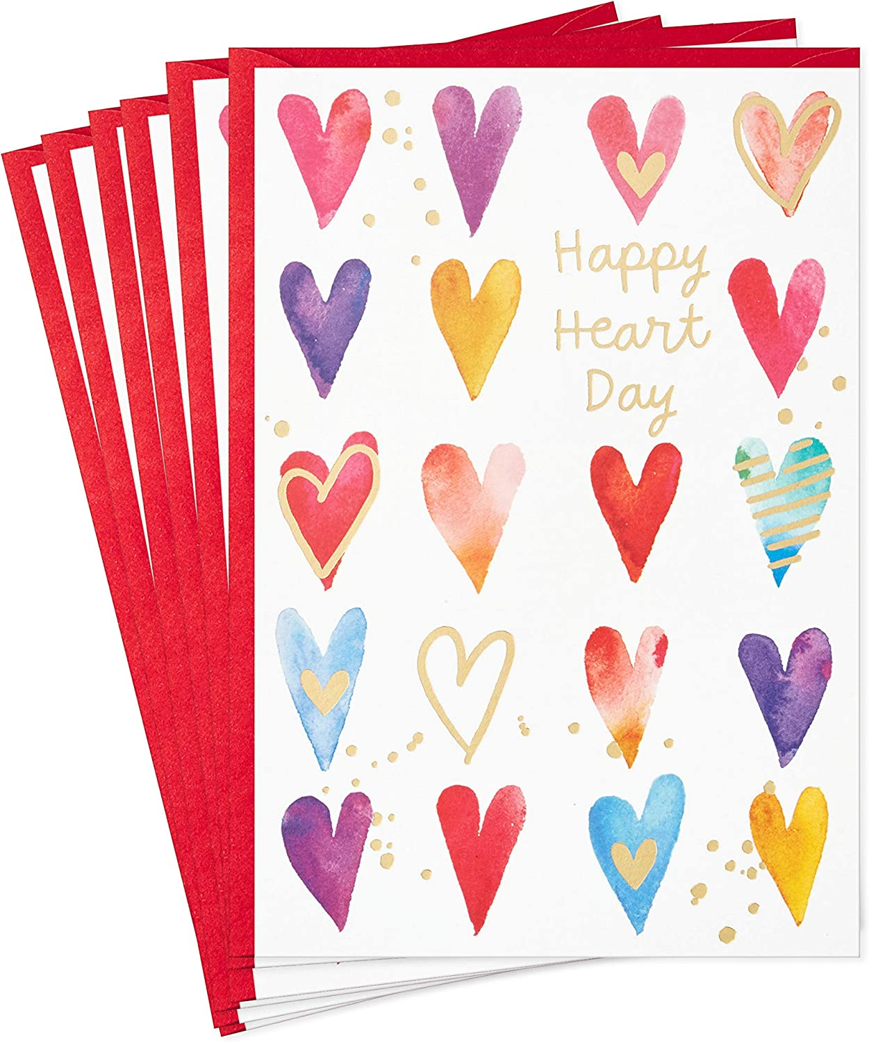 Hallmark Special sale item Pack of Valentines Day Cards Happy Dealing full price reduction 6 Valent Heart