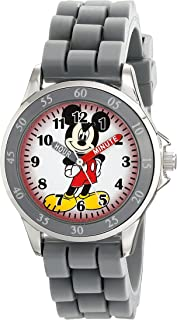 Disney Kids' MK1242 Mickey Mouse Analog Display Analog Quartz Grey Watch
