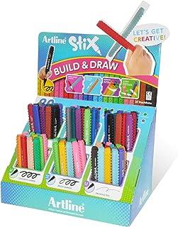 Artline Stix Drawing Pen Assorted Colors, Polyacetal Resin Tip 0.5mm Fine Line, Pack of 72 pcs - ARMKAMM-STIX/PC