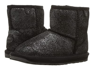 EMU Australia Kids Wallaby Mini Metallic (Toddler/Little Kid/Big Kid) (Black) Kid