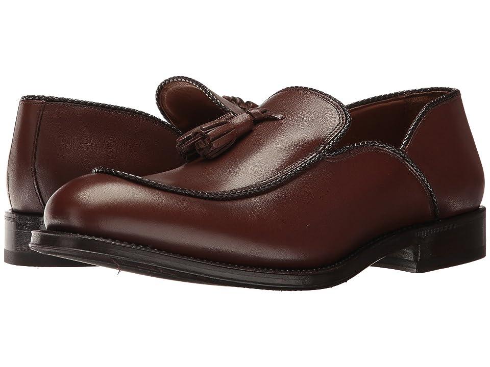 Aquatalia Vigo (Dark Brown Textured Dress Calf) Men