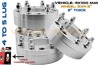 4 PC 4x100 To 5x114.3 Wheel Adapters Spacers 2