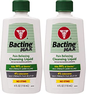 Bactine Max Pain Relieving Cleansing Liquid, 4 Oz, 2Count