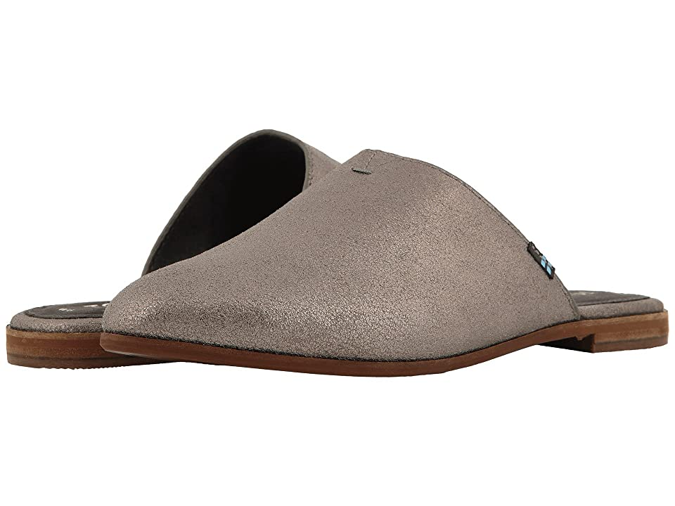 TOMS Jutti Mule (Pewter Metallic Leather) Women