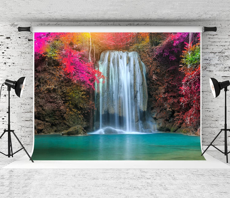 COVASA Photography Background Erawan Sunligh Luxury goods Sales Beautiful Waterfall