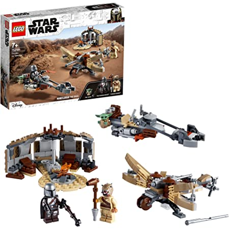 LEGO 75299 StarWars ConflitàTatooine V29 Jeu de Construction avec la Figurine de Baby Yoda, Saison 2