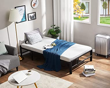 Alecono 14 Inch Metal Platform Bed Frame with No Box Spring Needed Twin Bed Frame Easy Assembly Heavy Duty Steel Slat Mattres