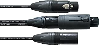 Cordial CPM 0.15 Conv-FM 1-Foot Peak Balanced XLR Microphone Cable, Black