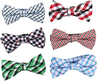 WSSROGY 6 Pack Boys Bow Tie Toddler Pre-Tied Bowties Adjustable Neck Strap