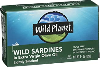 Wild Planet Wild Sardines in Extra Virgin Olive Oil, Keto and Paleo, 4.4 Ounce