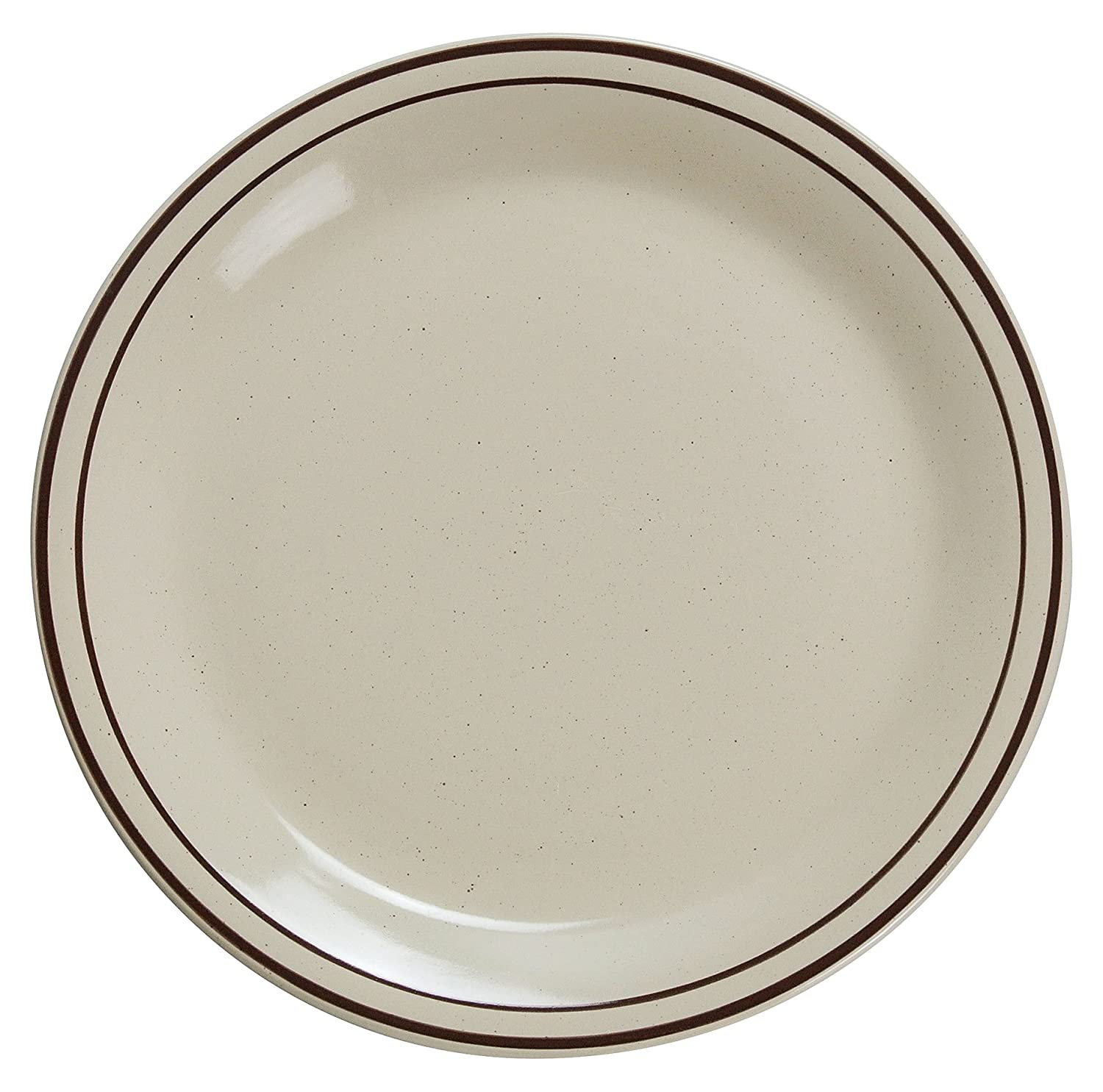 Yanco El Paso Mall BR-7 Brown Speckled Be super welcome Plate Diameter 7.25
