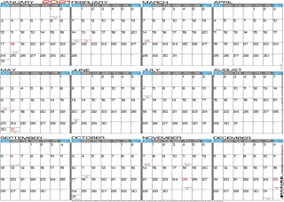 "JJH Planners - Laminated - 24"" X 17"" Medium 2021 Erasable Wall Calendar - Horizontal 12 Month Yearly Annual Planner (21h-24x17)"